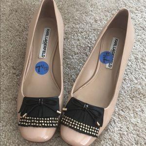 Beige, Karl Lagerfeld women shoes, size 7.5